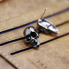New Style Cool Womens Punk Vintage Skull Head Earrings Ear Studs Fit for Gifts