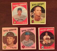LOT OF (5) 1959 Topps High Number cards--Harmon Killebrew #515 + 4 more