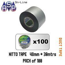 4 Rolls of Nitto Duct Tape Premium Quality 48mm X 30m Black