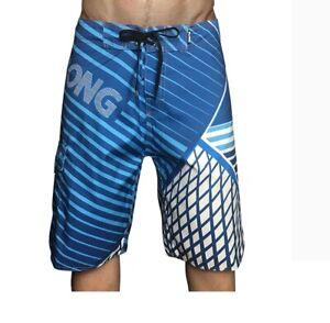 Blue Billabonng Mens Board Surf Shorts Boardshorts Swim Beach Pants 30 32 38