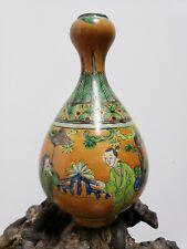 Chinese Porcelain Famille Verte Orange Vase