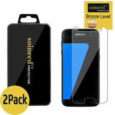 [2-Pack]SOINEED Tempered Glass Screen Protector Film Cover For Samsung Galaxy S7