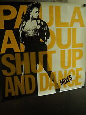 Paula Abdul Large 1990 Promo Poster Shut Up And Dance Mixes supermint condition