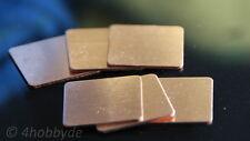 6 Kupferplättchen 20x20x0,8mm Kupferpad Wärmeleiter CPU Wärmeleitplättchen Pad