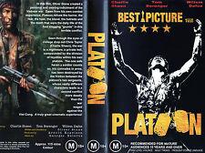 PLATOON - C. Sheen, T. Berenger & W. Dafoe - VHS - PAL - NEW - VERY RARE!!