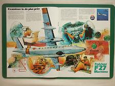 10/1980 PUB FOKKER AIRCRAFT HOLLAND F27 MARITIME PATROL AIRCRAFT ORIGINAL AD