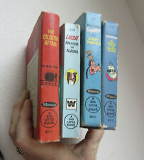4 vtg Whitman Big Little Books, Frankenstein 1968, Lassie 1967, Goofy 1968, and