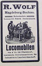 R. Wolf Lokomobilen Magdeburg-Buckau Reklame Inserat 04 Werbung Anzeige 1898