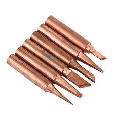 Fine 6pcs Copper Soldering Iron Tips 900M-T Lead Free Solder Welding Tools Set