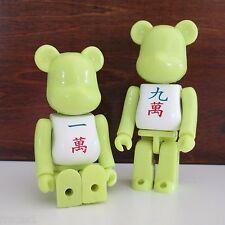 Mahjong Plastic Toy Bears, Pair of 1 and 9 Crack, Mahjongg
