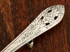 - FINE ARTS STERLING SILVER SPOON BROOCH / PIN ART CROWN PRINCESS 1949