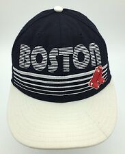 Boston Red Sox Line Logo Throwback New Era Fitted Wool Blend Hat Size 7 1/4