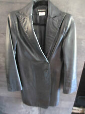 Anne Demeulemeester black super soft leather jacket size 38 made in Belgium
