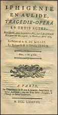 GLUCK (Composer): Iphinenie en Aulide Libretto