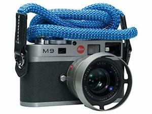 Vi Vante Luxury Sheetline Aqua Blue Rope Camera Strap with Napa Leather Ends and