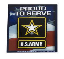 U.S. Army Proud to Serve Emblem Usa Military Mini Magnet (Car / Fridge / Other)