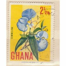 1967 definitive stamp shows Commelina Flower - Ghana stamp - see scan