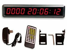 LED Count Down Clock Red Digital Timer Big Remote Control Up Event Mount Wall