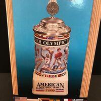 """Anheuser-Busch Budweiser """"American Olympic Team 2000"""" Summer Games Stein CS460"""