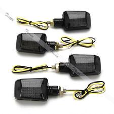 4x9 LED Amber Motorcycle Turn Signals Indicator Light Universal Smoke Lens #J32