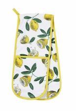 Lemons print Design Double Oven Glove from Ulster Weavers