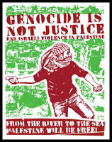 Men's Ladies T SHIRT politics free Palestine genocide is not justice peace