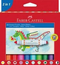 Stempel-Stifte Faber-Castell Stempel-Filzstifte Fasermaler und Stempel 10er