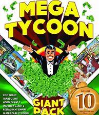 Mega Tycoon Giant Pack PC Games Windows 10 8 7 Vista XP Computer hotel zoo train