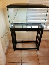Fish tank with 12v light and stand. 29.5 x 12 x 17.5. Used, good condition.