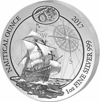 50 Francs Nautical Ounce Santa Maria Rwanda 1 oz Silver Bu 2017