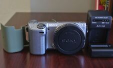 Silver Sony Alpha NEX-5T 16.1 MP Digital Camera Body Only- Excellent!