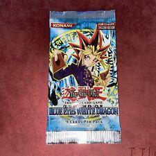 More details for yugioh legend of blue eyes white dragon lob sealed booster pack euro long crimp