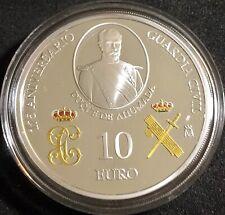 ESPAÑA 10 EURO PLATA en PROOF 175 ANIVERSARIO GUARDIA CIVIL 2019(SOLO LA MONEDA)