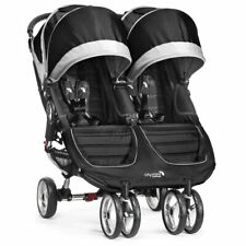 Ex Display Baby Jogger City Mini Double/Twin Stroller - Black, Pushchair Immacul