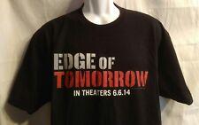 EDGE OF TOMORROW Warner Brothers Black T Shirt Size XL Next Level Apparel
