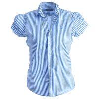 Ralph Lauren Sport Womens Striped Puff Short Sleeves Striped Shirt Top Sz M UK10