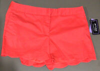 NWT ATTYRE Women's Shorts MACKENZIE Size 14 Pink, Salmon Color Scalloped Hem