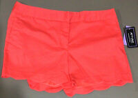 NWT ATTYRE Women's Shorts MACKENZIE Size 14 Pink, Salmon Color Scalloped Hem