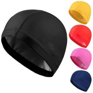 100% Unisex Adult Kids Children Swimming pool Cap Swim Hat Nylon