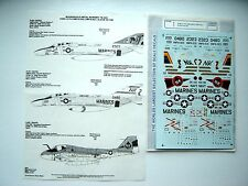 "F-4N PHANTOM/A-6E INTRUDER ""3USN/USMC/GHOST RIDERS"" MICROSCALE DECALS 1/72"