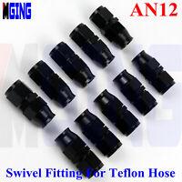 6AN -6 AN8 AN 4 AN10 12 E85 PTFE Straight Fuel Fittings Teflon Hose End Adapter