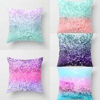 Sequin Glitter XMAS Pillow Cases Cushion Cover Home Sofa Waist Throw Home Decor