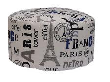 POUF BEAN BAG TONDO PER INTERNO SFODERABILE PARIS