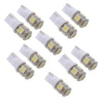 10x T10 194 168 W5W 5050 SMD 5 LED Veilleuse Ampoule Lampe Blanc Xenon Voit F3D4