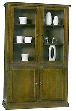 Libreria vetrina con ante legno massello, arte povera, mobile ufficio,
