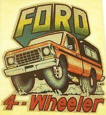 Original Ford 4 Wheeler 4x4 Truck Iron On Transfer Glitter