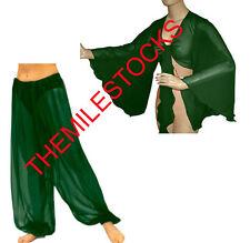 TMS D GREEN Harem Yoga Pants Tops Belly Dance Costume Tribal Pantalons Haut Club
