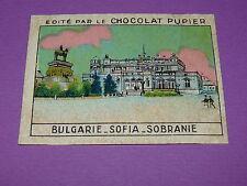 CHROMO CHOCOLAT PUPIER EUROPE 1932 BULGARIE SOFIA SOBRANIE