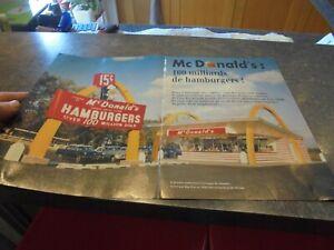 10 pages issues d'un Magazine 1994 l'HISTOIRE de Mc DONALD'S