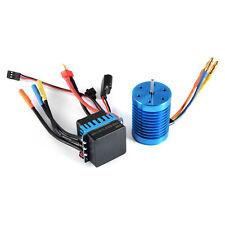 3650-4370KV 4P Sensorless Brushless Motor with 45A ESC for 1/10 RC Car RC505